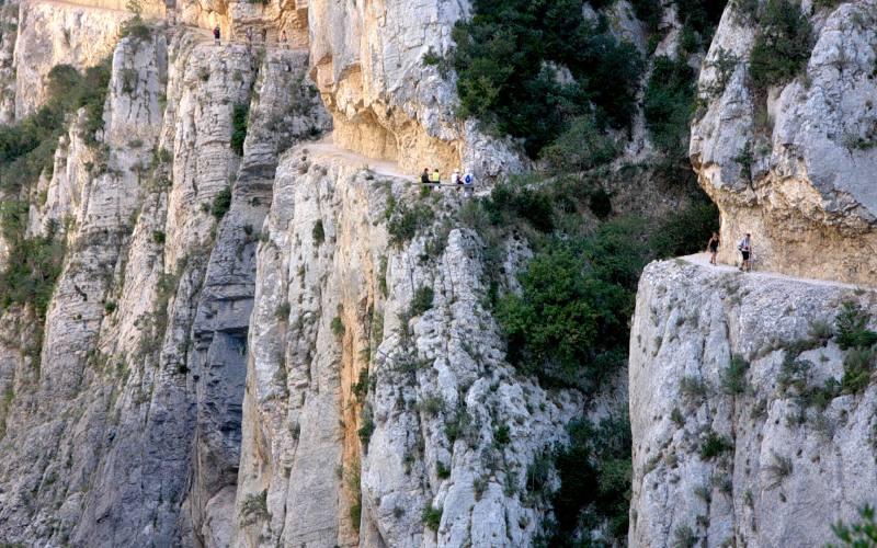 Trayecto a través de Mont-Rebei