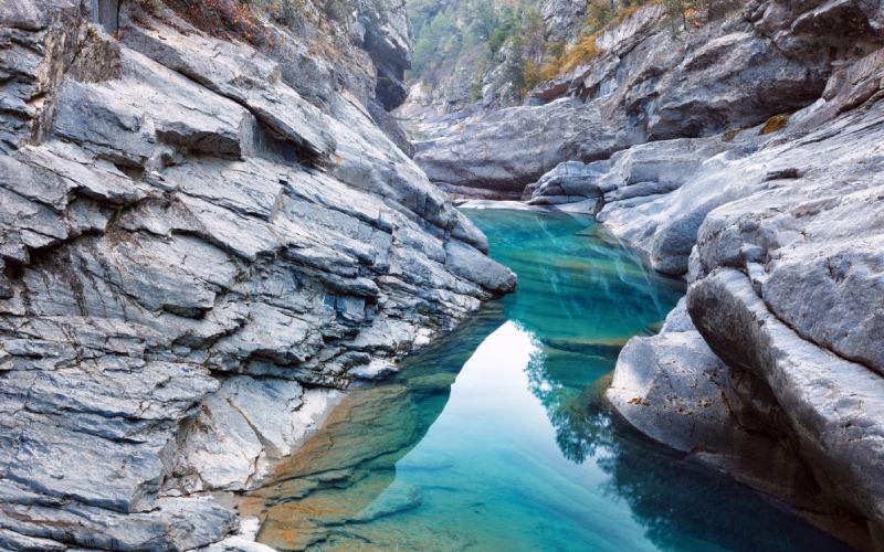 Parte más baja del cañón de Añisclo