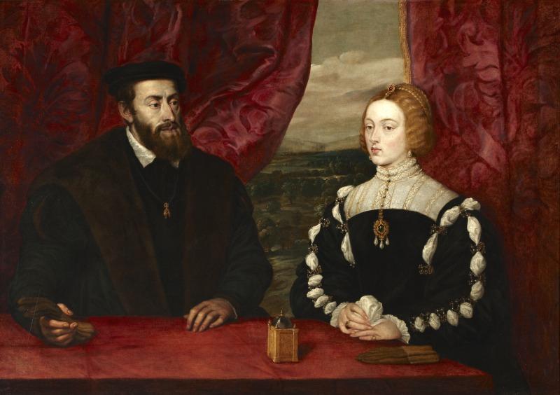 Carlos V y la emperatriz Isabel, Peter Paul Rubens, 1628