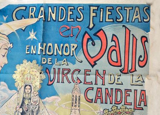 cartel fiestas virgen candela