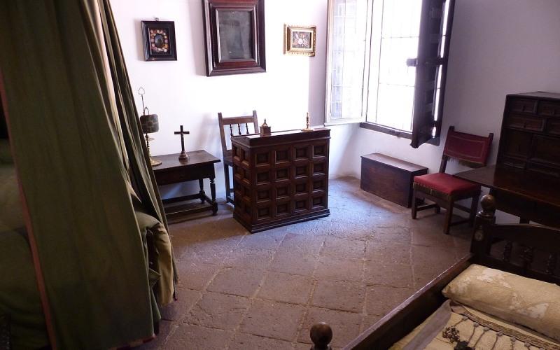 Dormitorio de la casa-museo Lope de Vega.