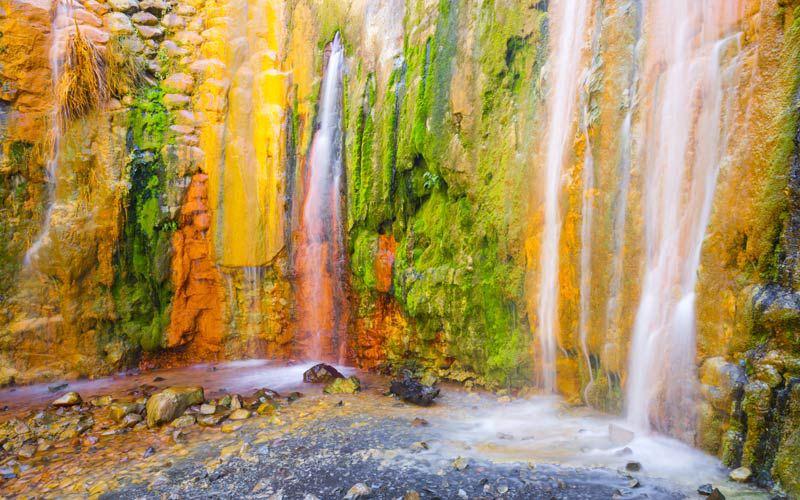 Cascada de Los Colores en la Caldera de Taburiente