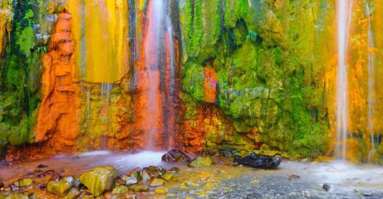 La Cascada de los Colores, el más vistoso juego entre naturaleza y hombre de La Palma
