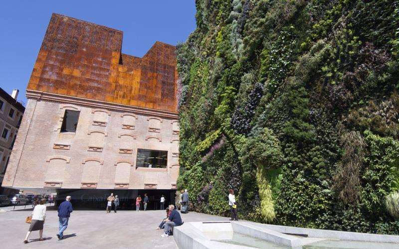 El jardín vertical de CaixaForum de Madrid