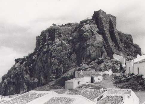 castillo pena ardales foto antigua