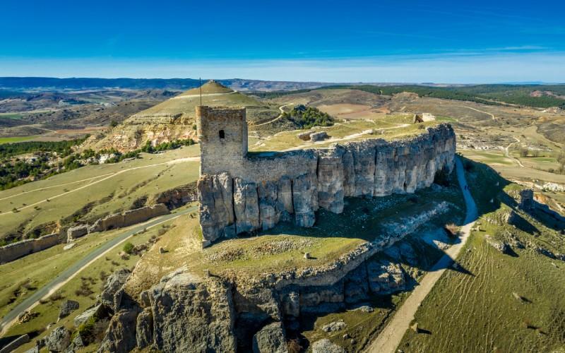 Vista aérea del castillo de Atienza