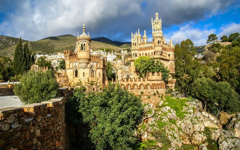 El castillo de Colomares entremezcla diversos estilos
