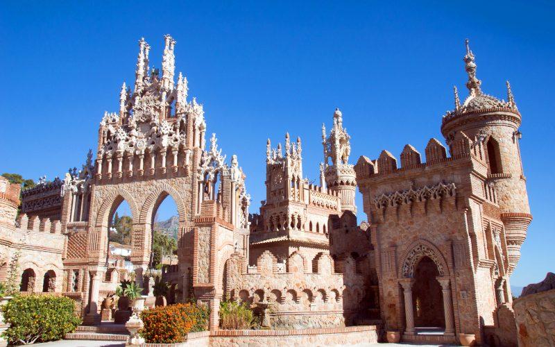 Interior del castillo de Colomares