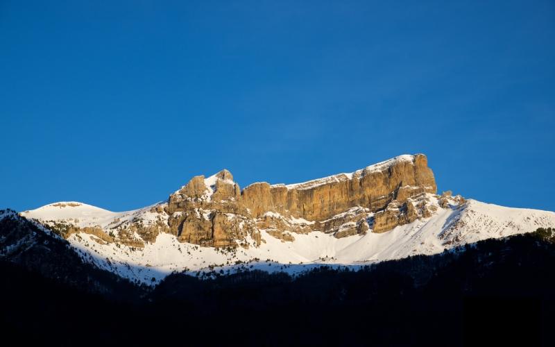 Castillo D'Archer cubierto de nieve