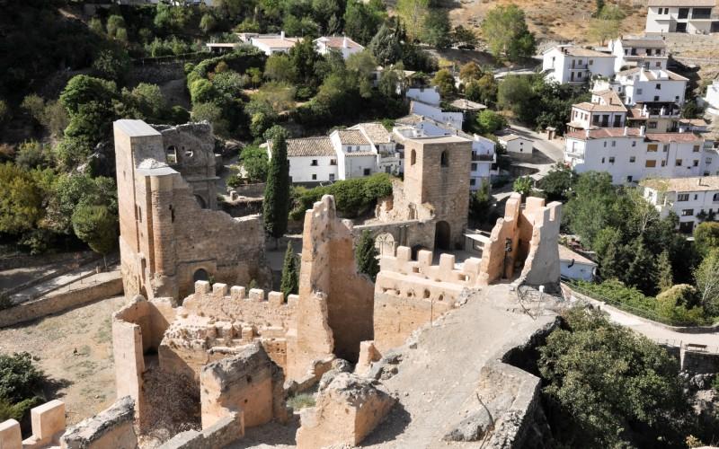 Algunos de los recintos que componen la fortaleza