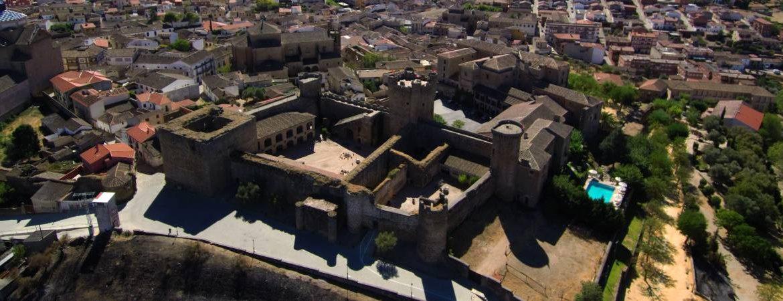 Castillo de Oropesa desde el aire