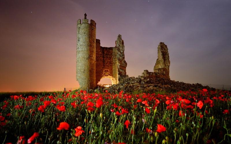 Castillo de Rivadeneyra de noche