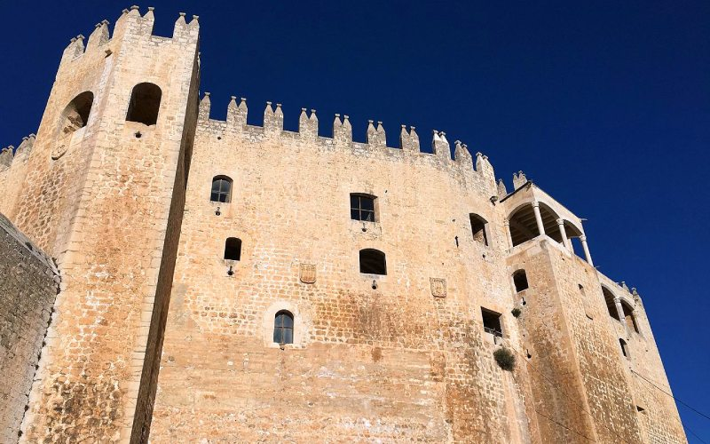 Muros de la zona palaciega del castillo de Vélez-Blanco
