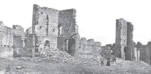 fotografia antigua castillo ainsa
