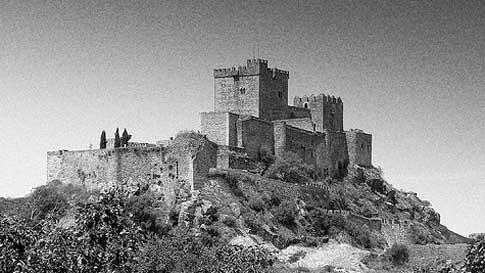 Castillo de Luna Alburquerque fotografia antigua