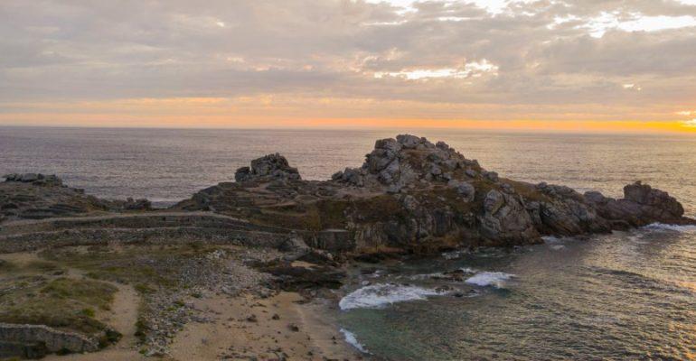 Castro de Baroña, un milenario fuerte celta que se adentra en el mar