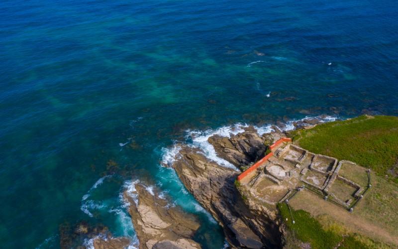 Castro de Fazouro en la costa de Lugo