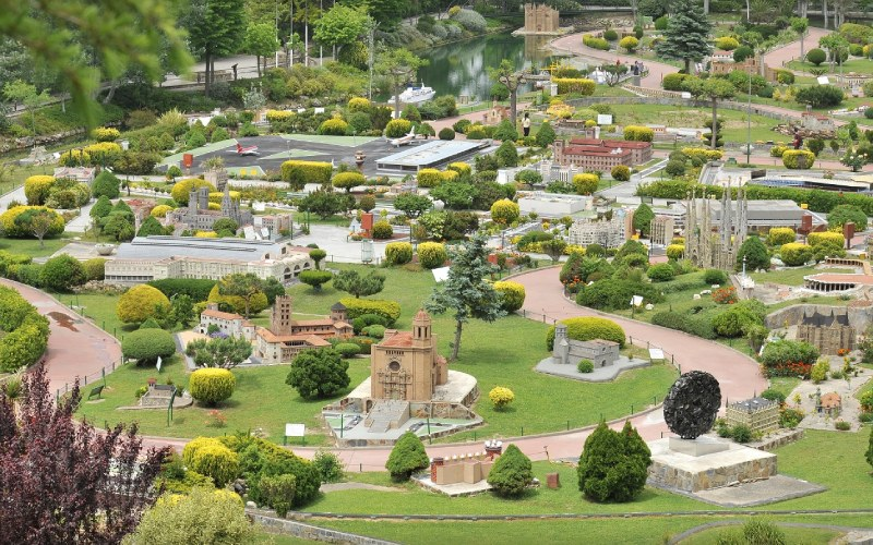 Vista general del parque de maquetas Catalunya en Miniatura