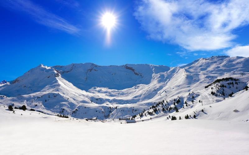 Nieve en las pistas de esquí de Cerler