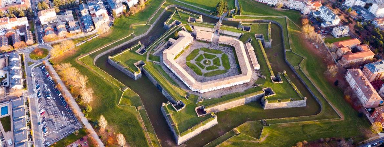 Vista aérea de la ciudadela de Jaca o Castillo de San Pedro