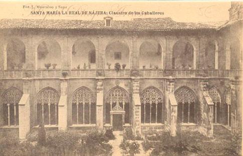 foto antigua monasterio najera