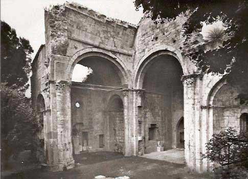foto antigua colegiata santa maria besalu