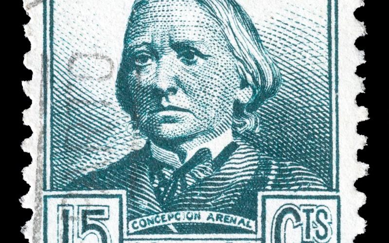 Concepción Arenal en un sello de correos