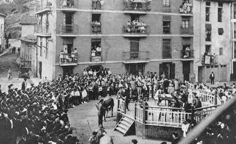 Un concurso de ganado en 1932 durante el Mercado de Ordizia