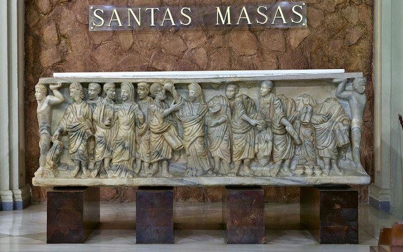 Sarcófago Receptio animae o de la Asunción de la Cripta de la Basílica de Santa Engracia en Zaragoza