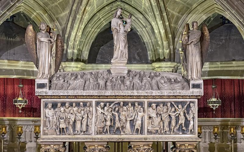 Sarcófago de santa Eulalia, Cripta de Santa Eulalia de la catedral de Barcelona