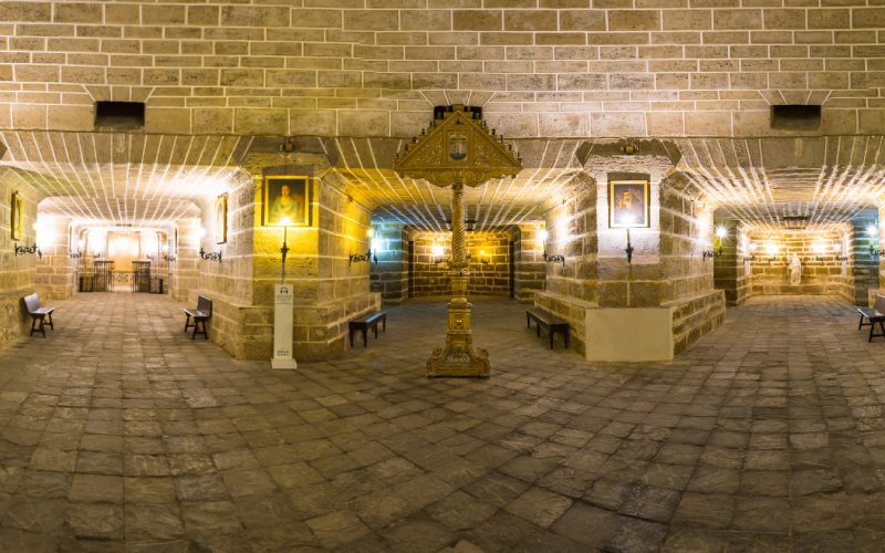 Panorámica de la Cripta de la catedral de Cádiz
