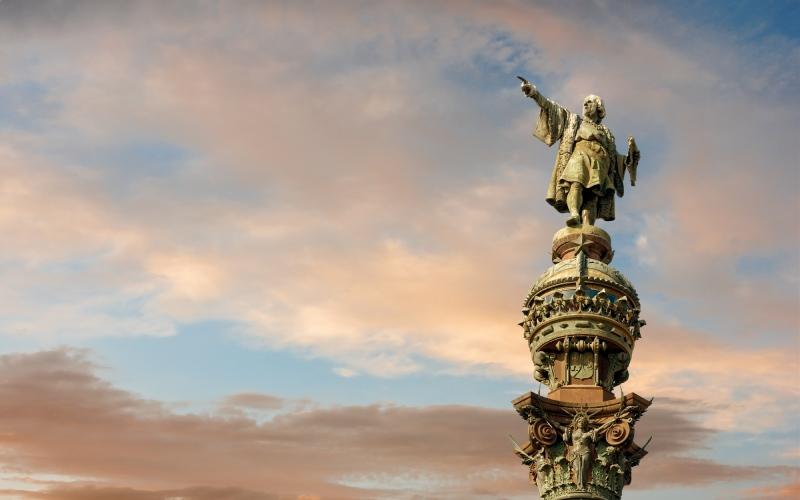 Monumento de Cristóbal Colón en Barcelona