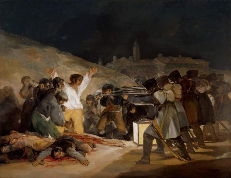 Cuadro Los fusilamientos de Goya