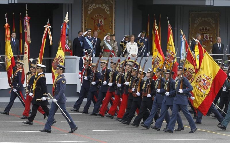Desfile Militar el día de la Fiesta Nacional