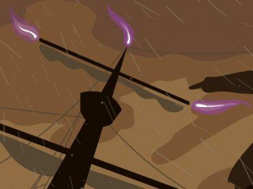 Capítulo 2 de la vuelta al mundo de Magallanes y Elcano: las primeras tormentas