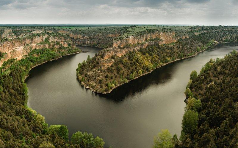 El cañón de las hoces del río Duratón llega a tener hasta 70 metros de altura en algunos puntos