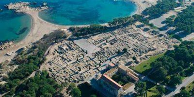 Vista aérea del Yacimiento Arqueológico de Empúries