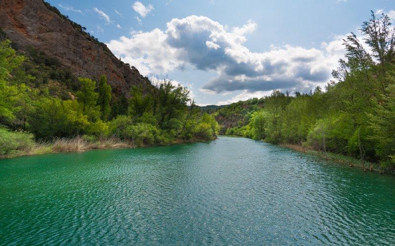 Vista del río Tajo en la comarca de Molina