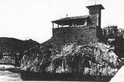 Ermita de Santa Ana fotograafía antigua Castro Urdiales