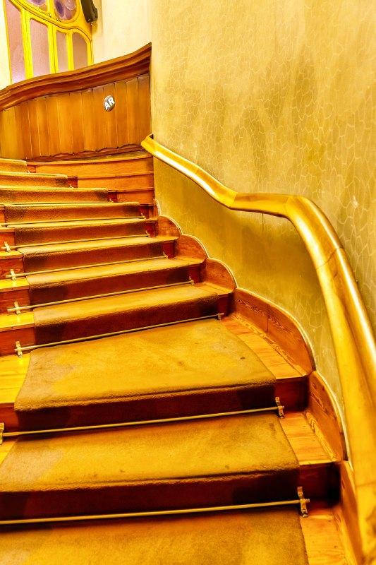 escaleras casa Batlló
