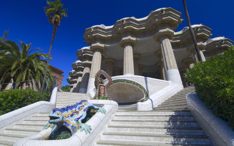 Detalle de la escalera del Park Güell
