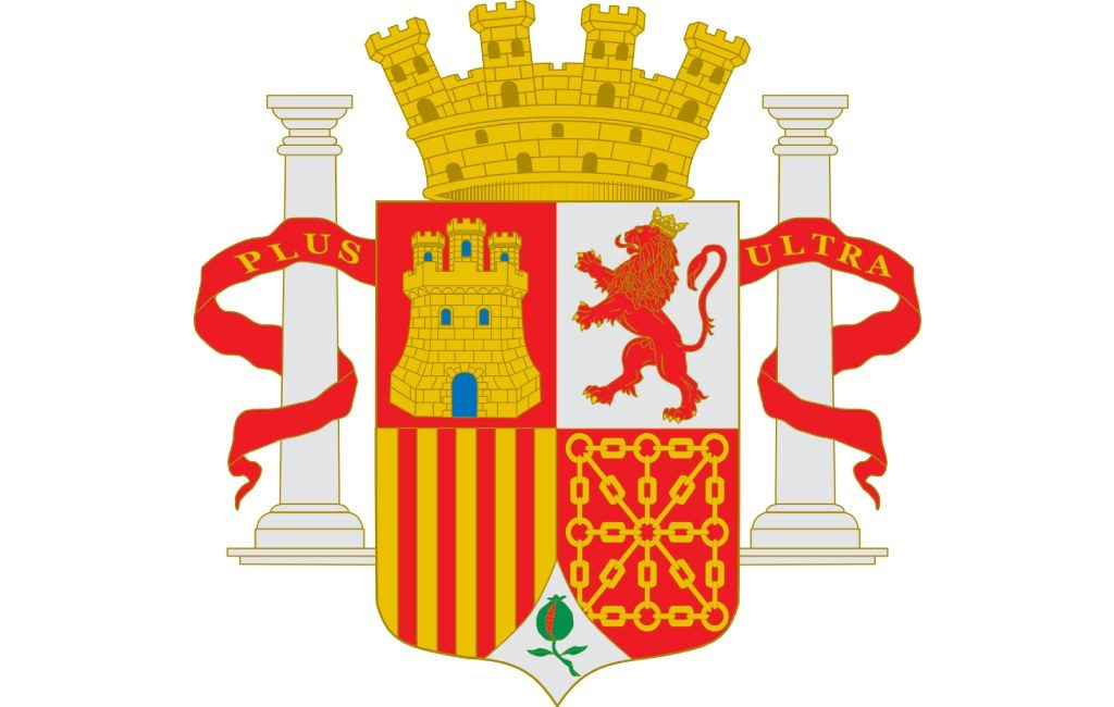 Escudo de España durante el Gobierno Provisional, con el cuartel de Navarra