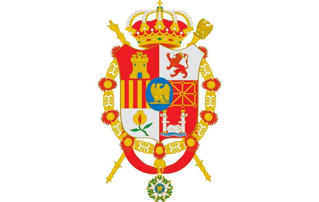 Escudo de José I Bonaparte, se ve el escudo de Navarra.