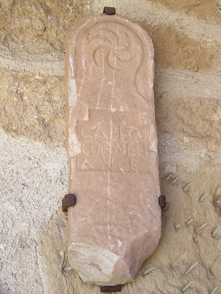 Estela romana hallada en Alcañices