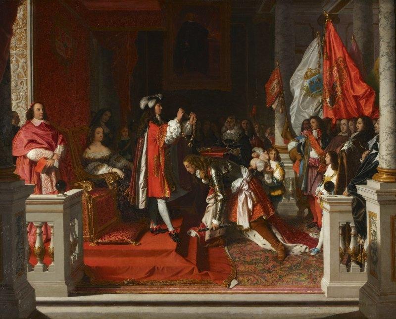 Felipe V impone el Toisón de oro al Duque de Berwick, Jean Auguste Dominique Ingres, 1818