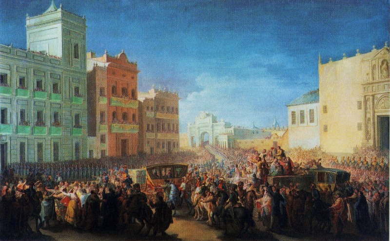 Entrada de Fernando VII en Valencia de Fernando Brambila