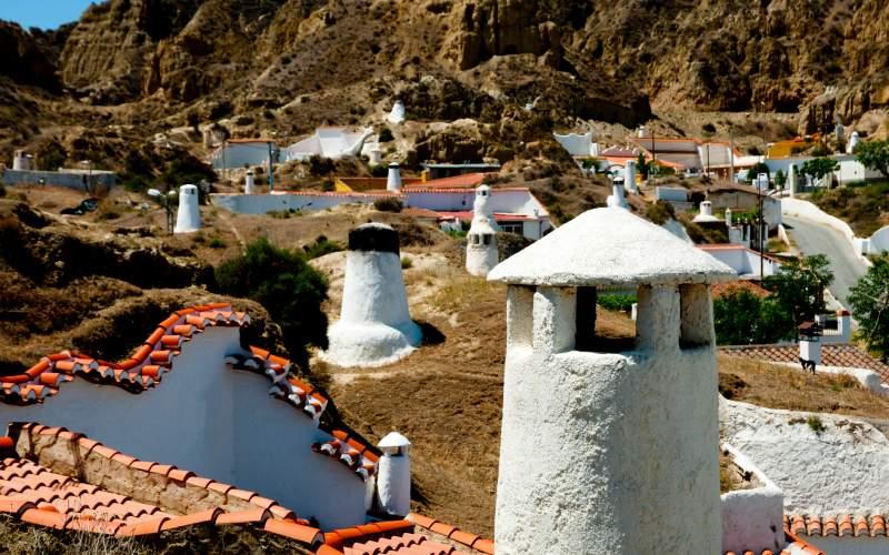 Chimeneas de las casas-cueva de Guadix