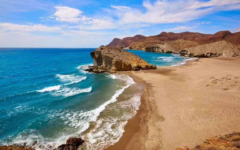 Playa del Mónsul en Parque Natural Cabo de Gata-Níjar