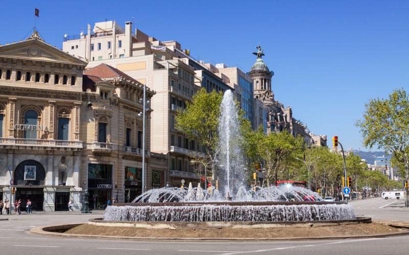 Fuente del Paseo de Gracia, en Barcelona