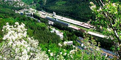 Vista panorámica de la estación